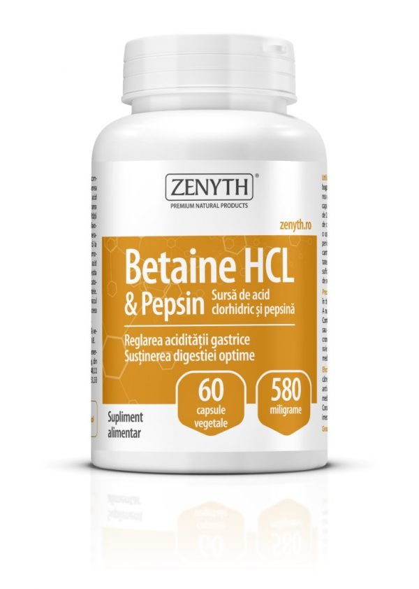 Betaine HCL & Pepsin 580mg 60cps