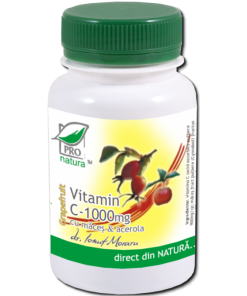 vitamina c 1000mg cu macese si aroma de grapefruit 100cps