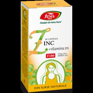zinc vitamina d3 30cps