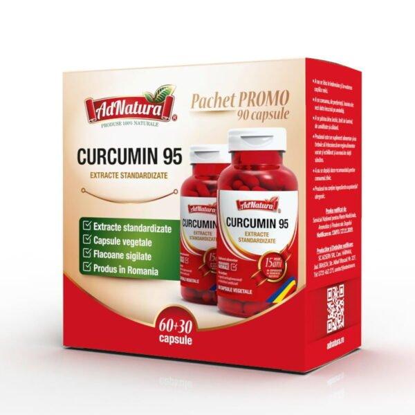 curcumin 95 pachet 60 30 capsule